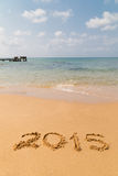 Новый в 2015 на пляже стоковое фото