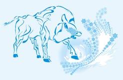 Новый Год быка Стоковые Фото