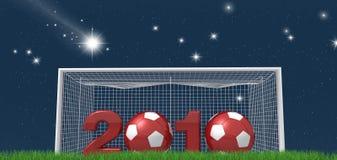 новый год версии футбола ночи иллюстрация штока