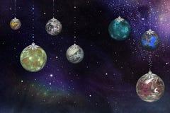 Новый Год в космосе Стоковые Изображения RF