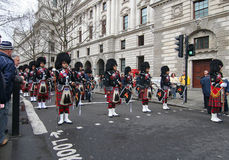 Новый Год в марше london Стоковая Фотография