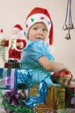 Новый Год девушки подарков Стоковое Изображение RF