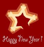 новый год звезды Стоковое Изображение
