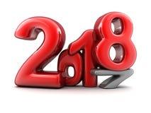 Новый Год 2018 знака красный Стоковые Изображения RF