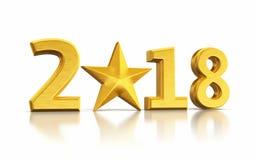 Новый Год 2017 и золото звезды Стоковое Изображение