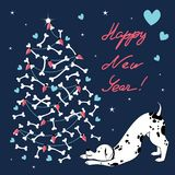 Новый Год, 18 Йога-собака Стоковое Фото