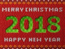 Новый Год 2018 как отверстие в связанной предпосылке Стоковое Изображение RF