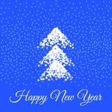 Новый Год карточки счастливое также вектор иллюстрации притяжки corel иллюстрация вектора