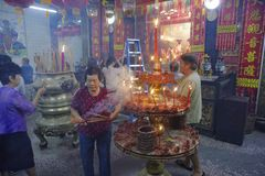 Новый Год китайца городка Малайзии, Penang Джордж Стоковые Фотографии RF