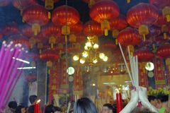 Новый Год китайца городка Малайзии, Penang Джордж Стоковая Фотография