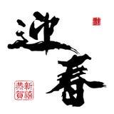 Новый Год китайца каллиграфии иллюстрация штока