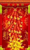 Новый Год китайца предпосылки Стоковые Фото