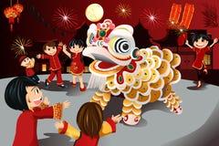Новый Год китайца торжества бесплатная иллюстрация
