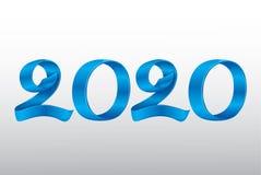 Новый Год 2020 ленты вектора стоковые изображения