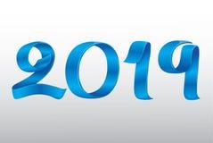 Новый Год 2019 ленты вектора стоковая фотография rf