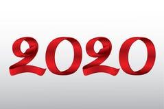 Новый Год 2020 ленты вектора стоковые изображения rf