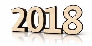 Новый Год 2018 модели 3d Стоковая Фотография RF