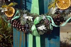 Новый Год оформления венка рождества Стоковые Фотографии RF