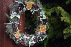 Новый Год оформления венка рождества Стоковые Изображения