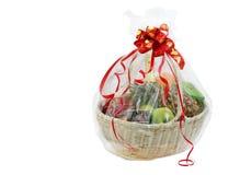 Новый Год подарка корзины Стоковые Изображения