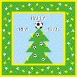 Новый Год, поздравительная открытка Стоковое Изображение
