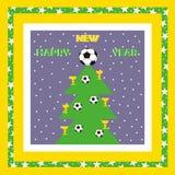 Новый Год, поздравительная открытка Стоковая Фотография RF