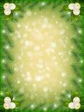 Новый Год предпосылки зеленое иллюстрация штока