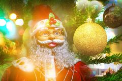 Новый Год предпосылки Санты счастливый Стоковые Фотографии RF