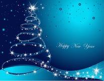 Новый Год предпосылки счастливое иллюстрация штока
