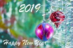 Новый Год приветствию карточки иллюстрация штока