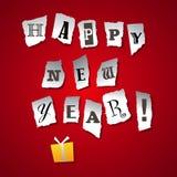Новый Год приветствию карточки Стоковые Фотографии RF