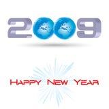 Новый Год приветствию Стоковое Изображение RF