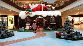 Новый Год придет, хранить план, заново строит атмосферу фестиваля для гостей Стоковая Фотография