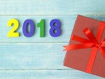 Новый Год 2018 приходя концепция стоковая фотография