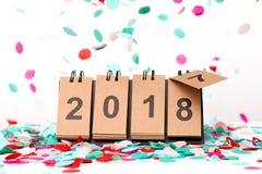 Новый Год 2018 приходя концепция стоковое фото rf