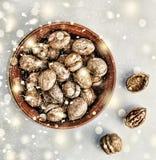 Новый Год рождества Грецкие орехи Стоковое Изображение