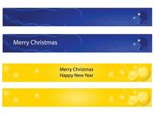 Новый Год рождества знамени бесплатная иллюстрация