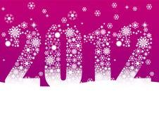 Новый Год рождества 2012 карточек бесплатная иллюстрация