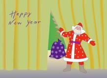 Новый Год Санта Клауса приветствию счастливый Стоковые Фотографии RF