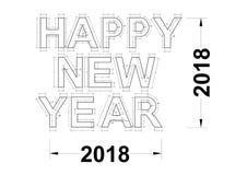 Новый Год - светокопия 2018 Стоковые Фотографии RF