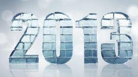 Новый Год - слово льда с путем клиппирования Стоковая Фотография RF