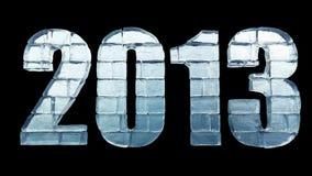 Новый Год - слово льда с путем клиппирования Стоковые Фотографии RF