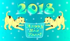 Новый Год собаки Стоковое Фото