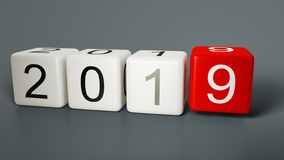 Новый Год 2019 с некоторой костью стоковые фотографии rf