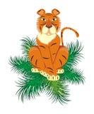 новый год тигра бесплатная иллюстрация