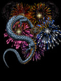 Новый Год фарфора Иллюстрация штока