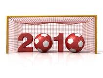 новый год футбола иллюстрация штока