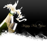 Новый Год шампанского торжества иллюстрация вектора