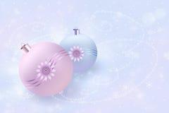 Новый Год шариков Стоковая Фотография RF