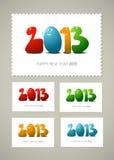 Новый Год штемпеля почтоваи оплата счастливое Стоковые Изображения